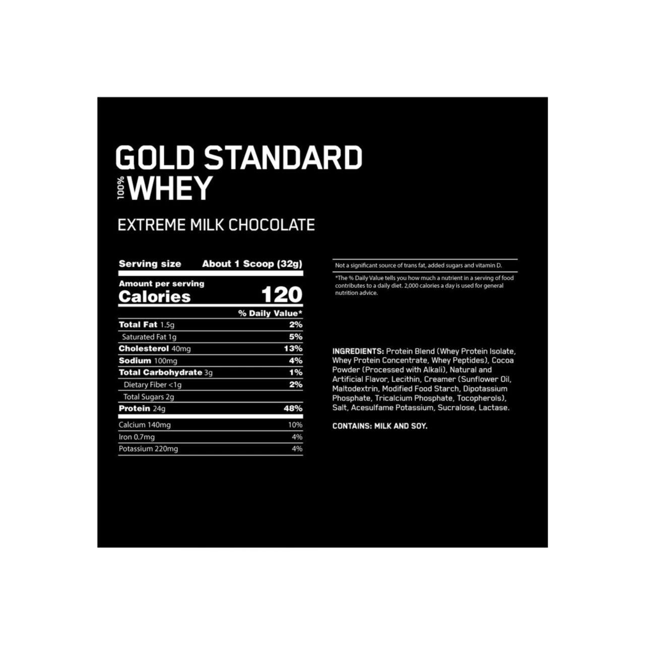 Optimum Nutrition Gold Standard Whey Extreme Milk Chocolate 2