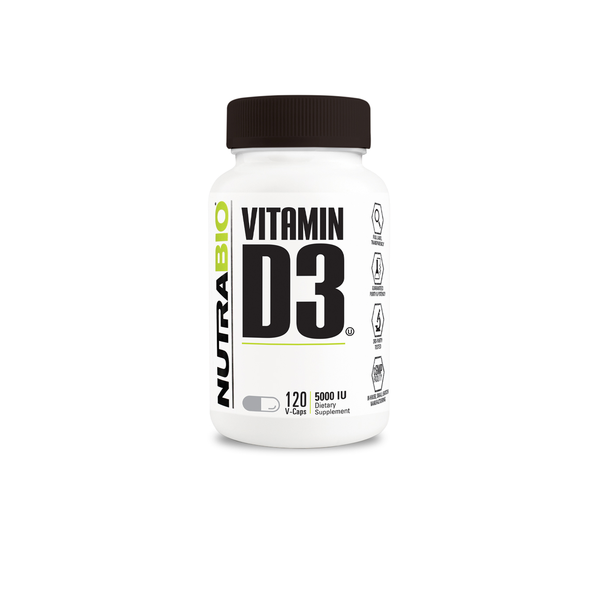 Nutrabio - Vitamin D 5000UI 120 Vegatable Capsules available at Nutrition Depot Philippines