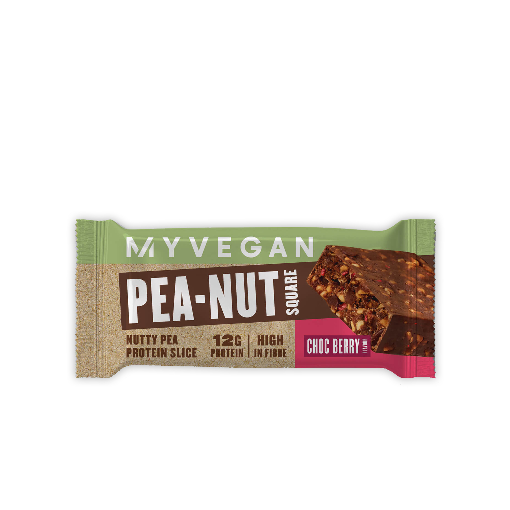 MyVegan Pea-Nut Square CHOC BERRY Protein Slice - Nutrition Depot Philippines